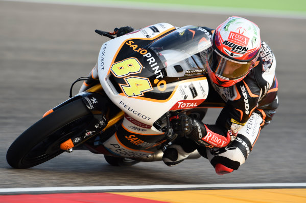 2017 Moto3 Championship - Round 14 Aragon, Spain. Saturday 23 September 2017 Jakub Kornfeil, Peugeot MC Saxoprint World Copyright: Gold and Goose / LAT Images ref: Digital Image 13957