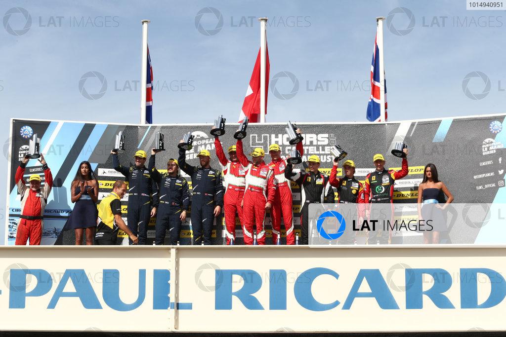 2017 European Le Mans Series, Le Castellet, France. 25th - 27th August 2017. GTE Podium World Copyright: JEP/LAT Images