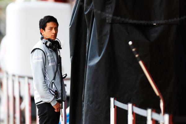 Circuit de Catalunya, Barcelona, Spain.  Wednesday 18 May 2016.  Rio Haryanto, Manor Racing MRT.   World Copyright: Sam Bloxham/LAT Photographic ref: Digital Image _R6T1911