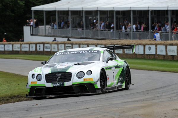 2016 Goodwood Festival of Speed Goodwood Estate, West Sussex,England 23rd - 26th June 2016 Bentley Continental GT3 David Brabham World Copyright : Jeff Bloxham/LAT Photographic Ref : Digital Image