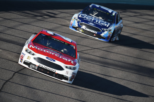 Monster Energy NASCAR Cup Series Homestead-Miami Speedway, Homestead, Florida USA Sunday 19 November 2017 Ryan Blaney, Wood Brothers Racing, Motorcraft/Quick Lane Tire & Auto Center Ford Fusion, Danica Patrick, Stewart-Haas Racing, Aspen Dental Ford Fusion World Copyright: Rainier Ehrhardt / LAT Images ref: Digital Image DSC_1921