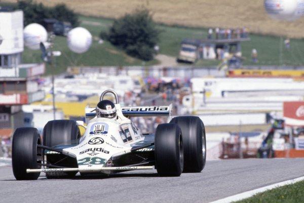 1980 Austrian Grand Prix.Osterreichring, Austria. 15-17 August 1980.Carlos Reutemann (Williams FW07B-Ford Cosworth), 3rd position.World Copyright: LAT PhotographicRef: 35mm transparency 80AUT07
