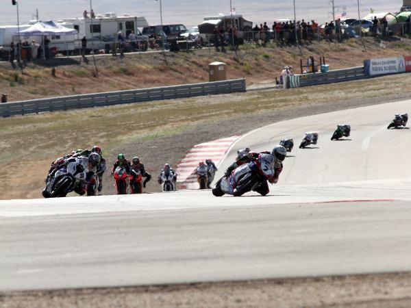 28 May 2012, Miller Motorsports Park, Tooele, Utah USARace RestartWorld Copyright; Rebecca McKay/LAT Photographic