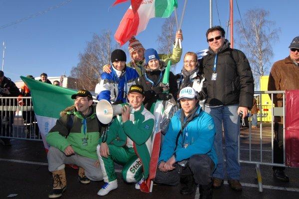 Gigi Galli (ITA) with his fan club  World Rally Championship, Rd2, Swedish Rally, Karlstad, Sweden, Day 1, Thursday 7 February 2008
