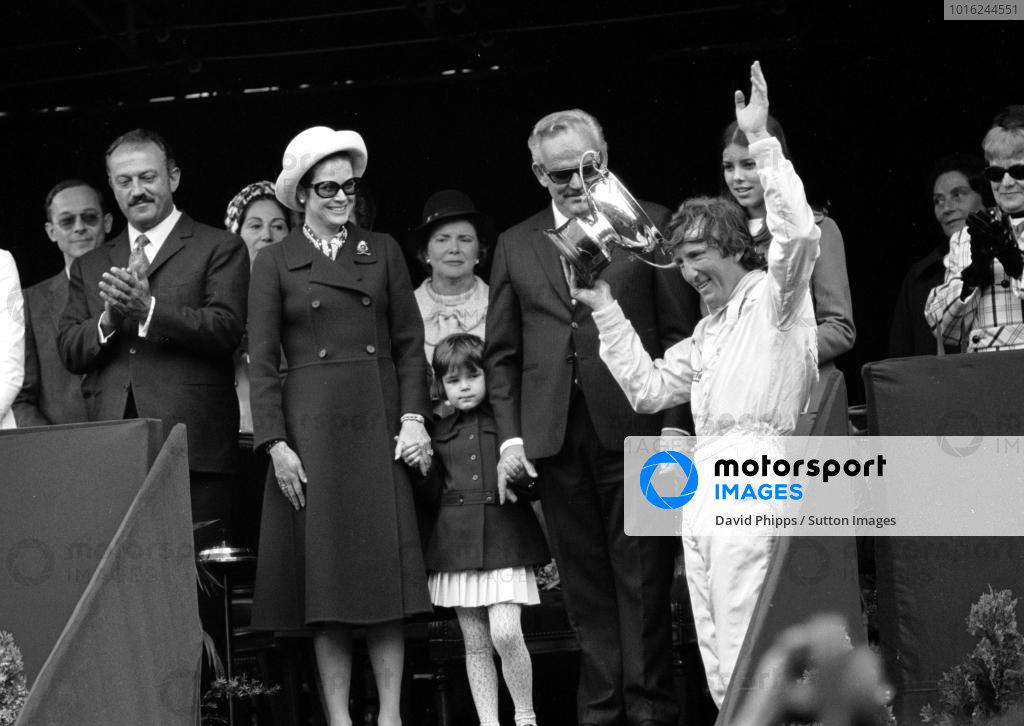 Winner Jochen Rindt(AUT) with Prince Rainier, and Princess Grace Monaco GP, Monte Carlo, 10 May 1970