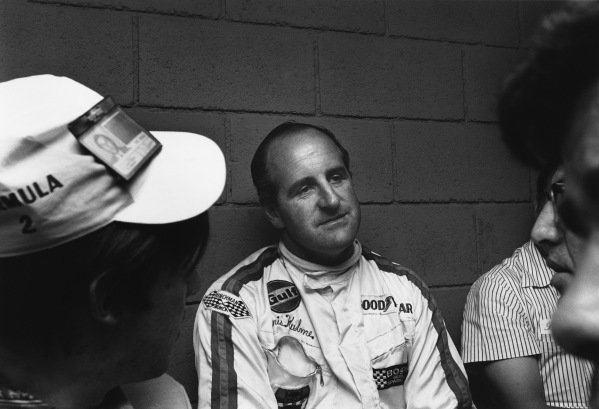 Mexico City, Mexico. 19 October 1969.Denny Hulme (McLaren M7A-Ford), 1st position, portrait. World Copyright: LAT Photographic.Ref:  2764 - 12-12A.