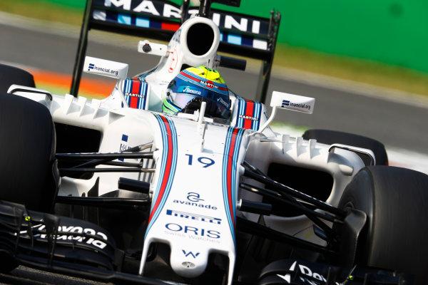 Autodromo Nazionale di Monza, Italy. Friday 02 September 2016. Felipe Massa, Williams FW38 Mercedes. World Copyright: Steven Tee/LAT Photographic ref: Digital Image _R3I4937