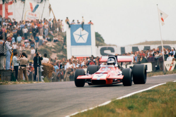 Zandvoort, Holland. 19th - 21st June 1970.Piers Courage (De Tomaso 505/38-Ford Cosworth), retired Tragically Courage suffered a fatal accident during the race, action.World Copyright: LAT Photographic.Ref: 70HOL57.