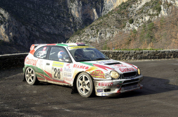 2001 World Rally Championship. Monte Carlo Rally,  Monaco. 18th -21st January 2001. Rd 1. Olivier Burri on Stage 3. World Copyright: Ralph Hardwick/ LAT Photographic. Ref: Burri2