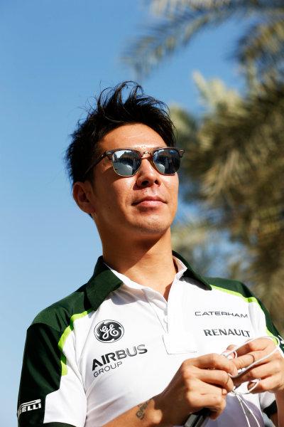 Yas Marina Circuit, Abu Dhabi, United Arab Emirates. Sunday 23 November 2014. Kamui Kobayashi, Caterham F1. World Copyright: Steven Tee/LAT Photographic. ref: Digital Image _L4R6848