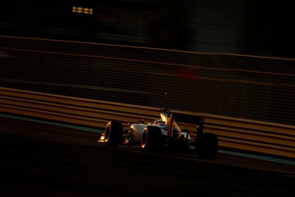 Yas Marina Circuit, Abu Dhabi, United Arab Emirates. Wednesday 26 November 2014. Felipe Nasr, Williams FW36 Mercedes. World Copyright: Glenn Dunbar/LAT Photographic. ref: Digital Image _89P9034