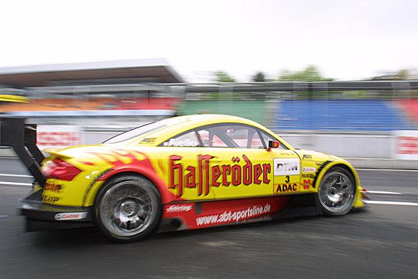 2002 DTM Championship.Hockenheim, Germany. 20-21 April 2002.Laurent Aiello, Team Abt-Audi Spotline.World Copyright: Spinney/LAT Photographic.Ref.: 8 5mb Digital Image Only.