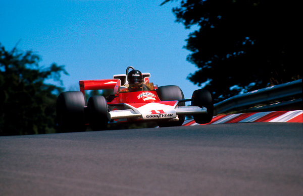 1976 German Grand Prix.Nurburgring, Germany.30/7-1/8 1976.James Hunt (McLaren M23 Ford) 1st position.Ref-76 GER 04.World Copyright - LAT Photographic