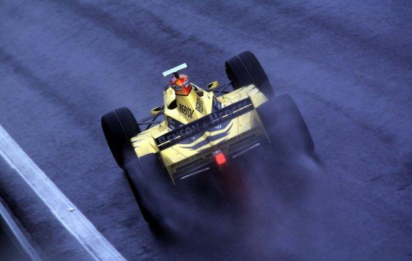 1998 Belgian Grand Prix.Spa-Francorchamps, Belgium. 28-30 August 1998.Damon Hill (Jordan 198 Mugen Honda) 1st position.World Copyright - Steven Tee/LAT Photographic