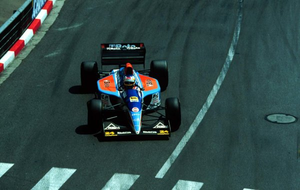 1994 Monaco Grand Prix.Monte Carlo, Monaco.12-15 May 1994.Michele Alboreto (Minardi M193B Ford) 6th position.World Copyright - LAT Photographic