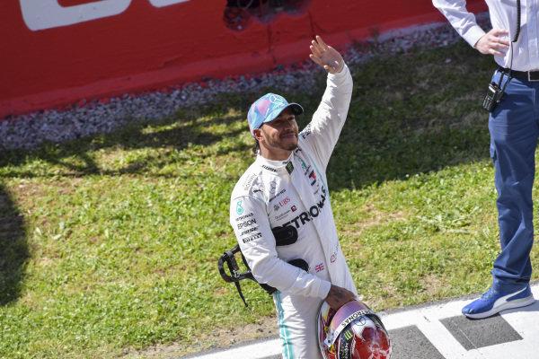 Lewis Hamilton, Mercedes AMG F1 celebrates in Parc Ferme