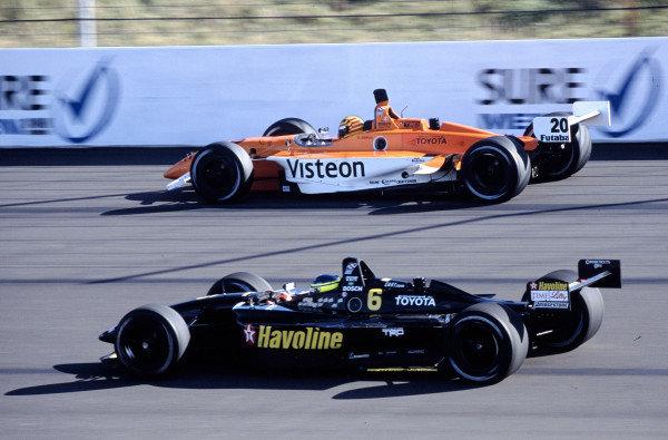 2002 Rockingham CART, Rockingham Speedway, England14 September, 2002Da Matta races with Servia. 41MB file.-2002, Michael L. Levitt, USALAT Photographic