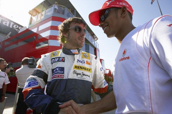 Fernando Alonso and Lewis Hamilton.