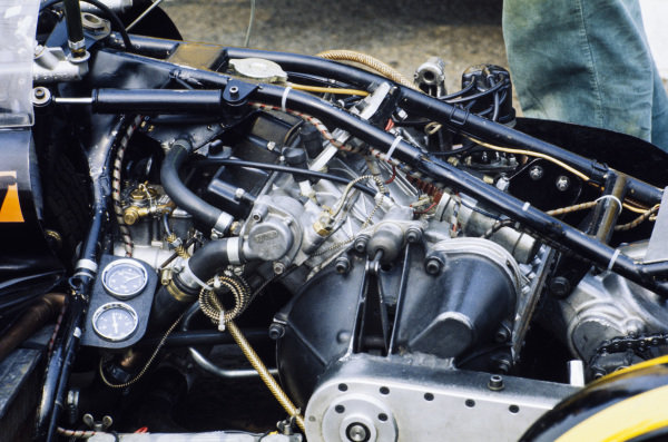 Detail of a Limpet sidecar engine.