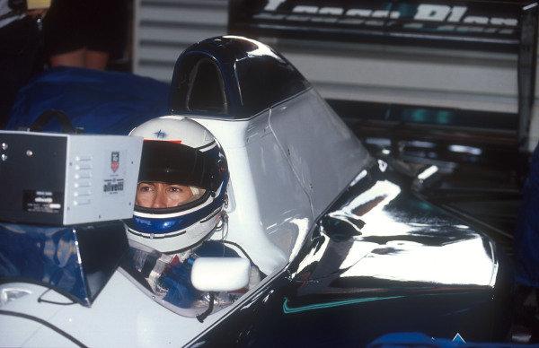 1992 Mexican Grand Prix.Mexico City, Mexico.20-22 March 1992.Giovanna Amati (Brabham BT60B Judd). She failed to qualify.Ref-92 MEX 08.World Copyright - LAT Photographic