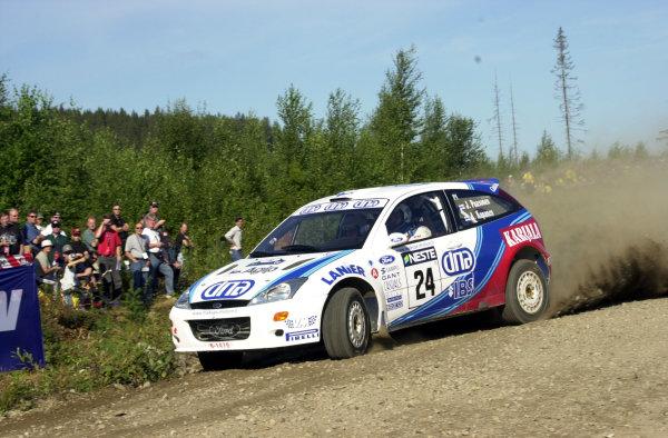 2001 World Rally Championship.Neste Rally Finland. Jyvaskyla, August 24-26, 2001.Jani Paasonen on stage 1.Photo: Ralph Hardwick/LAT