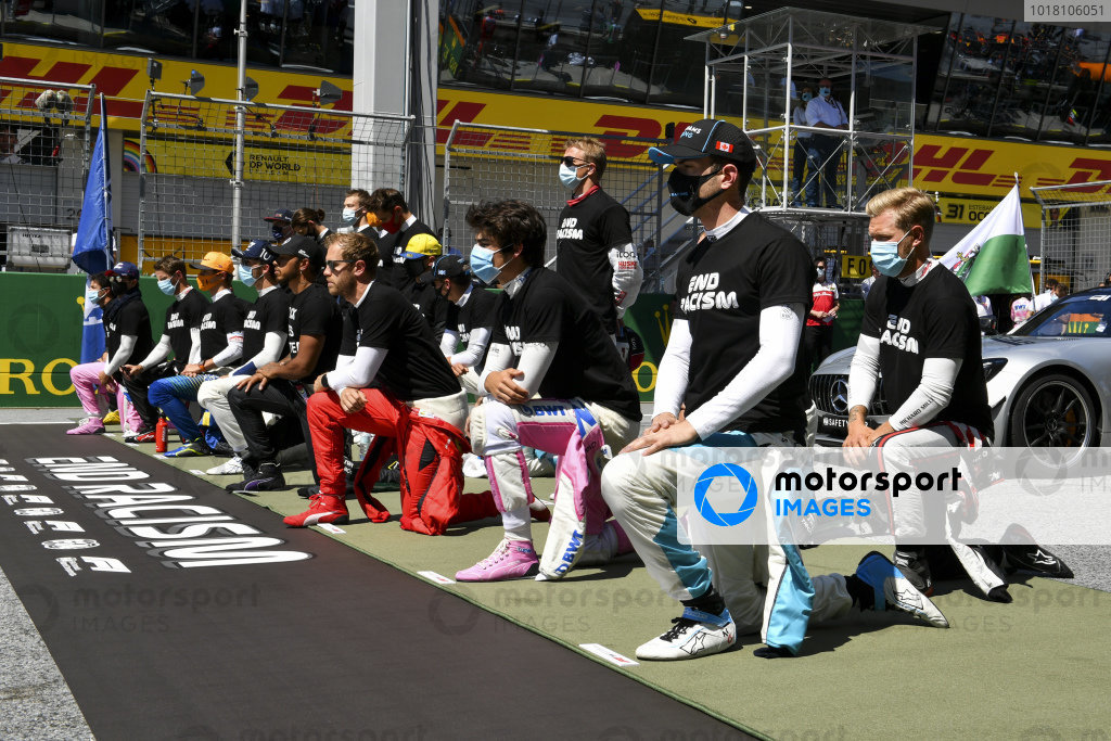 Drivers taking a knee