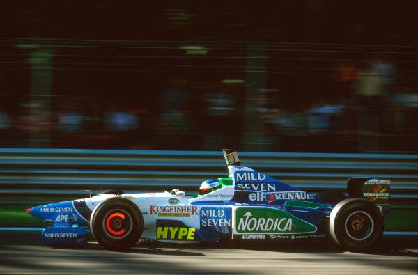 Monza, Italy.6-8 September 1996.Jean Alesi (Benetton B196 Renault) 2nd position.Ref-96 ITA 12.World Copyright - LAT Photographic
