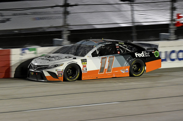 #11: Denny Hamlin, Joe Gibbs Racing, Toyota Camry FedEx Darlington Throwback