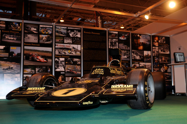 NEC, Birmingham. 8th January 2009.An ex-Ronnie Peterson Lotus 72 Ford Cosworth on the LAT stand in the historic hall.World Copyright: Jeff Bloxham/LAT Photographicref: Digital Image DSC_4950