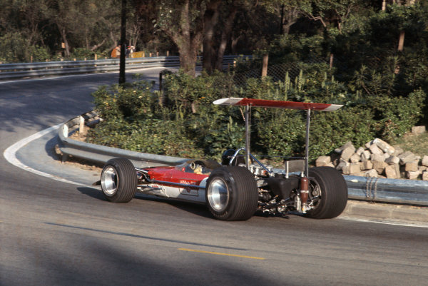 Montjuich Park, Barcelona, Spain. 2-4 May 1969.  Jochen Rindt (Lotus 49B Ford).  Ref: 69ESP01. World Copyright: LAT Photographic