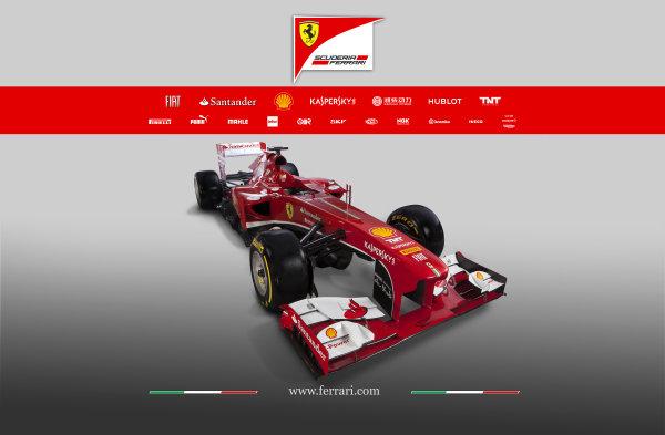 Maranello, Italy   The new Ferrari F138. Studio image. Photo: Ferrari (  ref: Digital Image 130003_f138