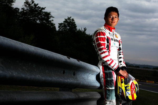 Round 6. Hungaroring, Budapest, Hungary, 28th July 2011.Thursday Preview. Rio Haryanto, (INA, Marussia Manor Racing) winner of race 9 at round five at the Nurburgring, Germany. Portrait. Photo: Drew Gibson/GP3 Media Service. ref: Digital Image DG5D7885