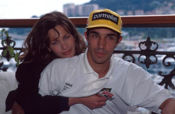 Pedro Diniz at home with his girlfriend.Formula One Drivers At Home