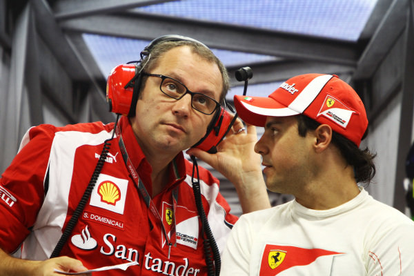 Stefano Domenicali (ITA) Ferrari General Director and Felipe Massa (BRA) Ferrari. 