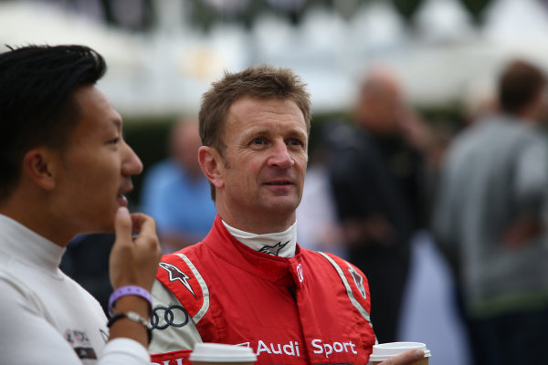 2017 Goodwood Festival of Speed. Goodwood Estate, West Sussex, England. 30th June - 2nd July 2017. Allan McNish (GBR) Audi  World Copyright : JEP/LAT Images