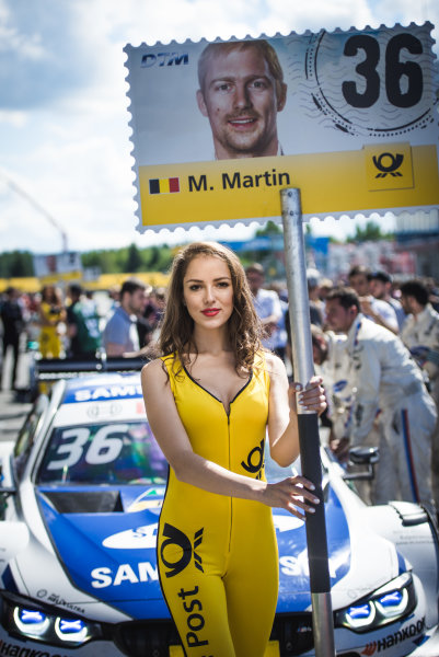 2017 DTM Round 5 Moscow Raceway, Moscow, Russia Sunday 23 July 2017. Grid girl of Maxime Martin, BMW Team RBM, BMW M4 DTM World Copyright: Evgeniy Safronov/LAT Images ref: Digital Image SafronovEvgeniy_2017_DTM_MRW_San-130
