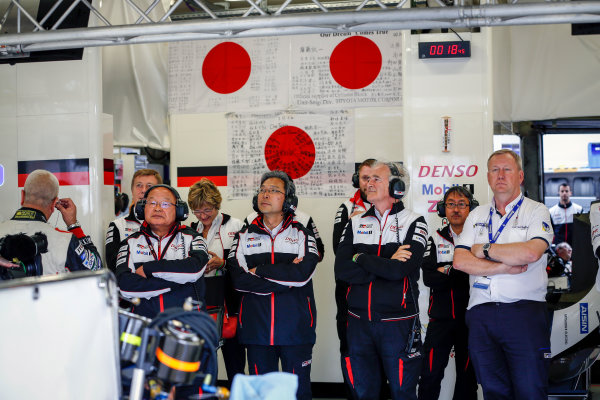 2016 Le Mans 24 Hours. Circuit de la Sarthe, Le Mans, France. Toyota. Sunday 19 June 2016 Photo: Adam Warner / LAT ref: Digital Image _14P1693