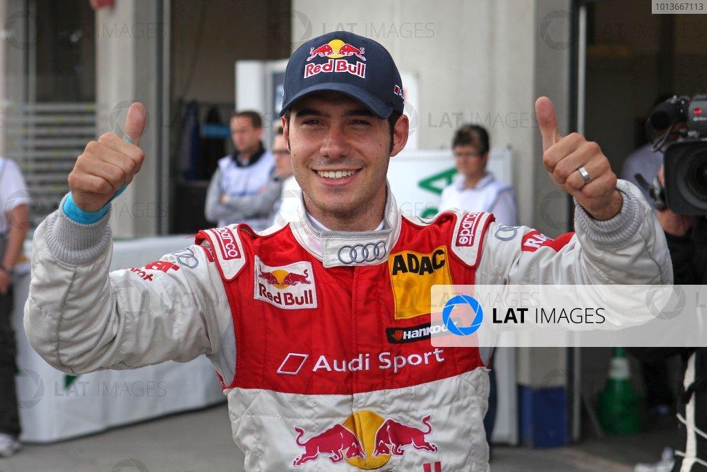 Pole position for Miguel Molina (ESP), Audi Sport Team Abt Junior, Red Bull Audi A4 DTM (2008).DTM, Rd8, Oschersleben, Germany, 16-18 September 2011 Ref: Digital Image dne1117se535