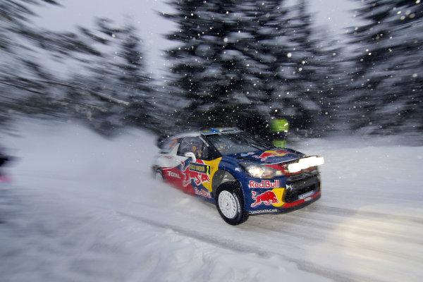 Round 01-Rally Sweden. 10th-13th February 2011.Sebastien Ogier, Citroen WRC, ActionWorldwide Copyright: McKlein/LAT
