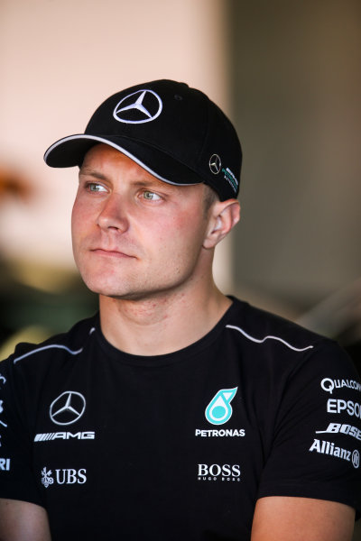 Circuit de Catalunya, Barcelona, Spain. Friday 12 May 2017. Valtteri Bottas, Mercedes AMG. World Copyright: Charles Coates/LAT Images ref: Digital Image AN7T4930