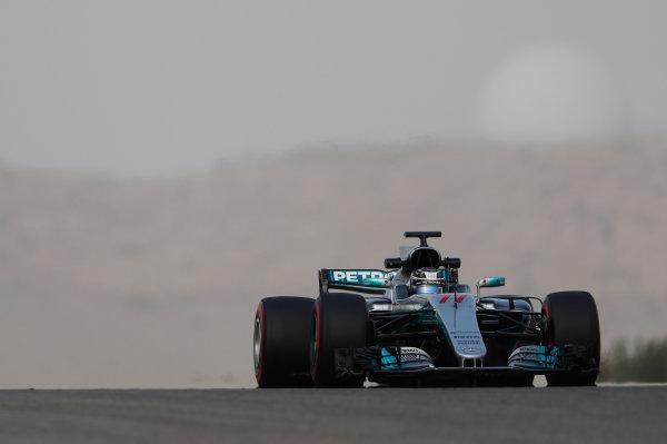 Bahrain International Circuit, Sakhir, Bahrain.  Wednesday 19 April 2017. Valtteri Bottas, Mercedes F1 W08 EQ Power+.  World Copyright: Glenn Dunbar/LAT Images ref: Digital Image _X4I4702