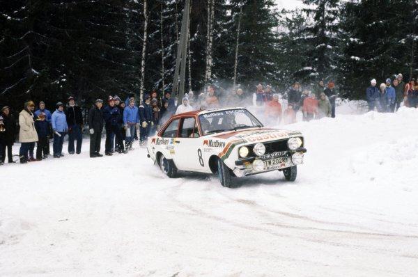 1978 World Rally Championship. Swedish Rally, Sweden. 10-12 February 1978. Ari Vatanen/Atso Aho (Ford Escort RS), 5th position World Copyright: LAT PhotographicRef: 35mm transparency 78RALLY18
