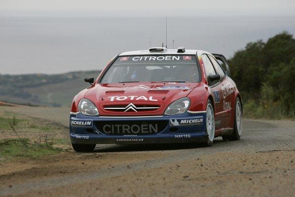 2005 FIA World Rally Champs. Round fourteenRallye De France.20th-23rd October 2005.Sebastien Loeb, Citroen, Action.World Copyright: McKlein/LAT