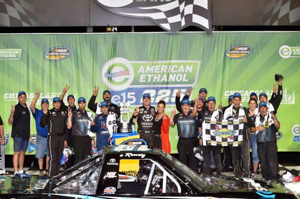 15-16 September, 2016, Joliet, Illinois USA Kyle Busch celebrates his win in Victory Lane ? 2016, Nigel Kinrade LAT Photo USA
