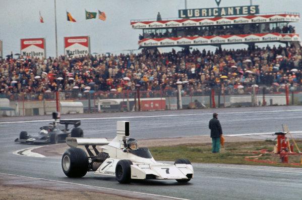 1974 Spanish Grand Prix.  Jarama, Madrid, Spain. 26-28th April 1974.  Carlos Reutemann, Brabham BT44 Ford.  Ref: 74ESP06. World Copyright: LAT Photographic