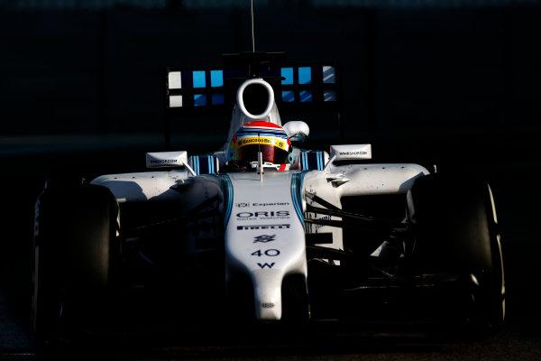 Yas Marina Circuit, Abu Dhabi, United Arab Emirates. Wednesday 26 November 2014. Felipe Nasr, Williams FW36 Mercedes. World Copyright: Glenn Dunbar/LAT Photographic. ref: Digital Image _89P8521