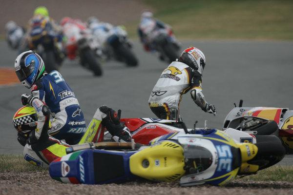 Germany Sachsenring 16-18 July 2010First corner crash in Moto2