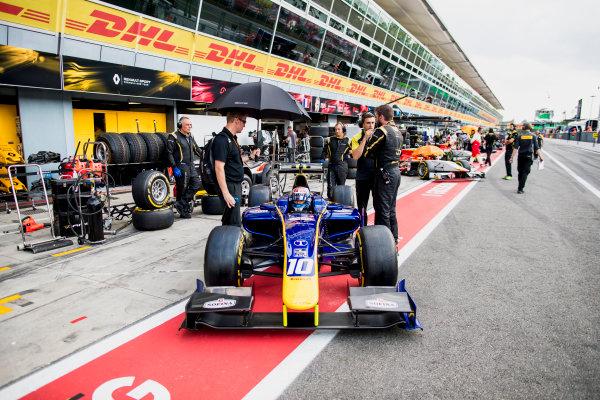 2017 FIA Formula 2 Round 9. Autodromo Nazionale di Monza, Monza, Italy. Friday 1 September 2017. Nicholas Latifi (CAN, DAMS).  Photo: Zak Mauger/FIA Formula 2. ref: Digital Image _56I6461