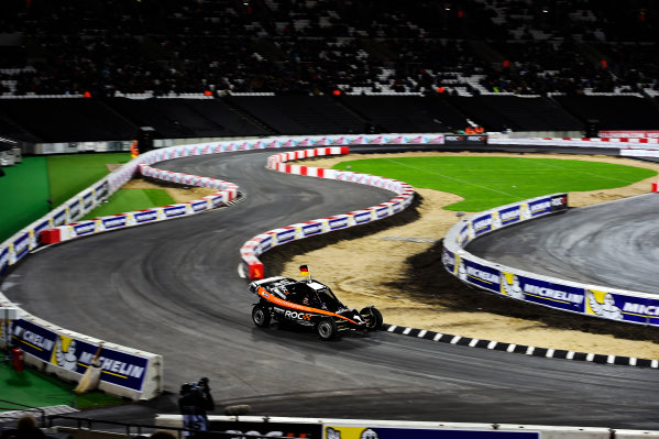 2015 Race Of Champions Olympic Stadium, London, UK Saturday 21 November 2015 Nico Hulkenberg (GER) in the ROC Car Copyright Free FOR EDITORIAL USE ONLY. Mandatory Credit: 'IMP'