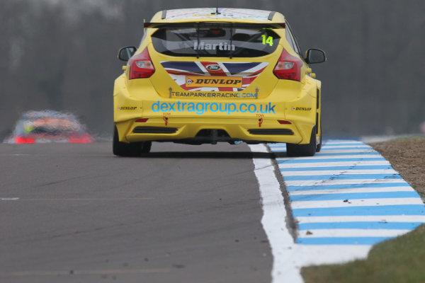 2016 British Touring Car Championship, Media Day, Donington Park, 22nd March 2016, Alex Martin (GBR) Dextra Racing Ford Focus  World Copyright. Jakob Ebrey/LAT Photographic